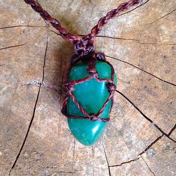Colar Pedra Natural Quartzo Verde
