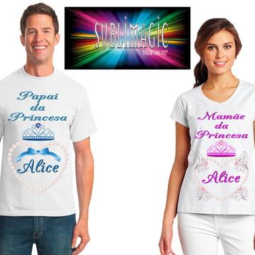 Kit 2 Camisetas Coroa Princesa