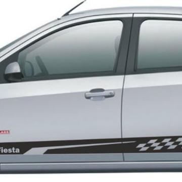 Kit Adesivo Fiesta Quadriculado Faixa Fita Colante SRT LA