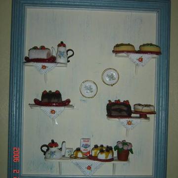 QUADRO MINIATURAS cozinha