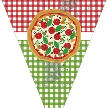 Bandeirola Festa da Pizza