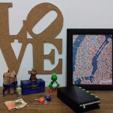Mural de Cortiça LOVE
