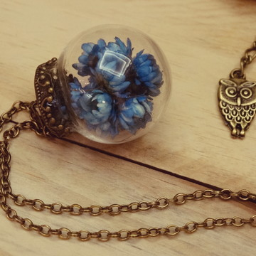 Colar Flower Dome and Owl