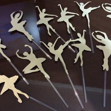 Toppers bailarina dourada