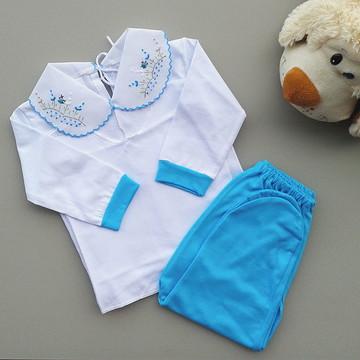 Pagão detalhes azul bebe