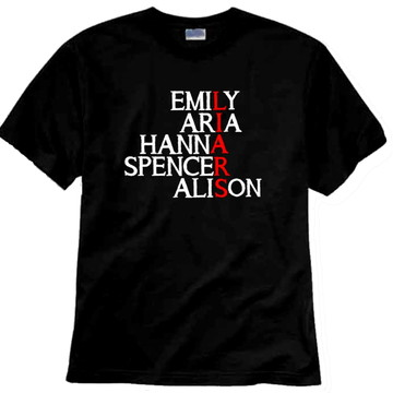 Camiseta PLL Personagens