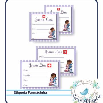 24 Etiquetas Personalizada Farmacinha