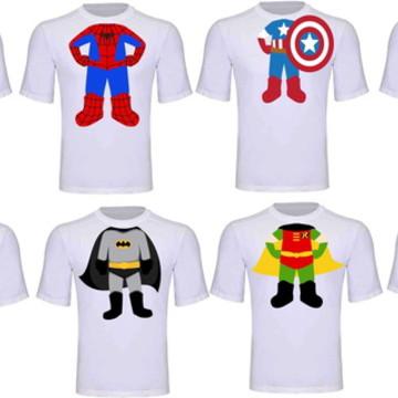 Camiseta Super Herois Infantil