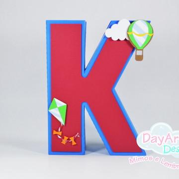 Letras 3D Balões e Pipas