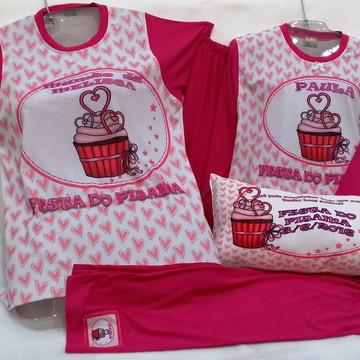 festa do pijama cupcake tal mãe tal filha KIT 2 PEÇAS