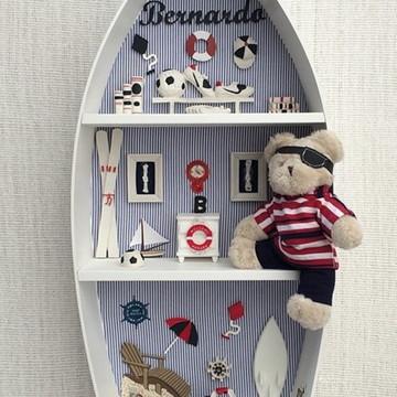 Barco prateleira para maternidade festa