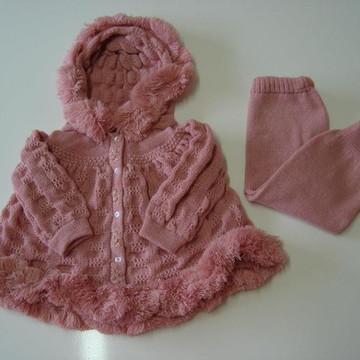 Conjunto esquimó de Bebê Infantil Tricô