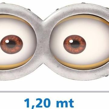 Adesivo Olhos Minions óculos