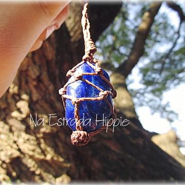 Colar de Pedra - Ágata Azul