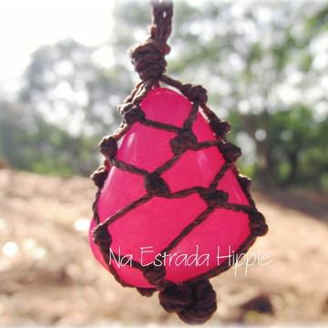 Colar de Pedra - Ágata Rosa