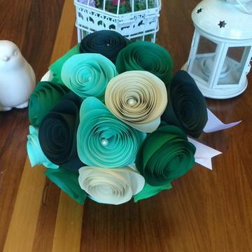 Buquê de Flores em Tons de Verde
