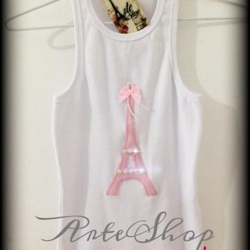 Camiseta ou regata tema Paris