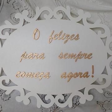 Plaquinha para Casamento