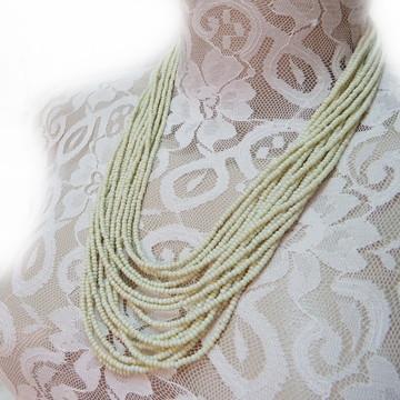 Maxi colar de miçanga verde