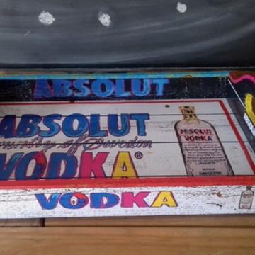 Bandeja Vintage Absolut Vodka