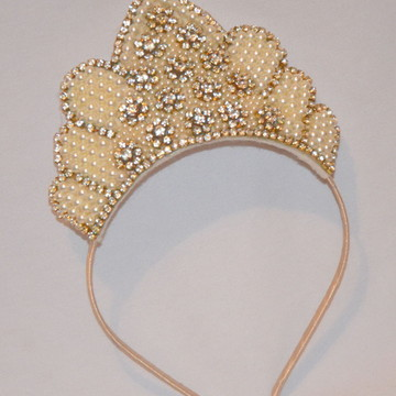Coroa de princesa Dourada