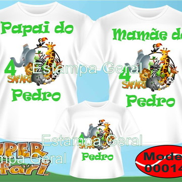 Camiseta Aniversario Safari Kit c/3