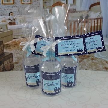 Mini álcool gel carrinho azul