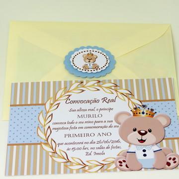 Convite Urso Príncipe II