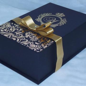 Caixa Box 13x21x8 Personalizada em Hot Casamento,Padrinhos,P
