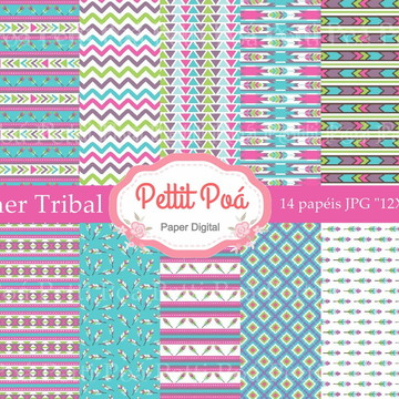 Papel digital summer tribal