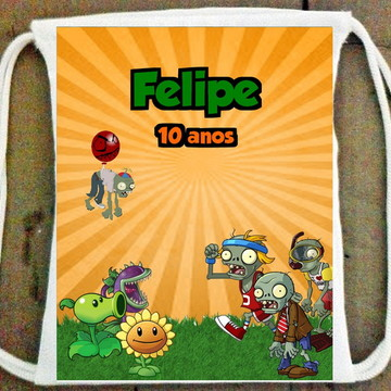 Mochila Plants vs Zombies