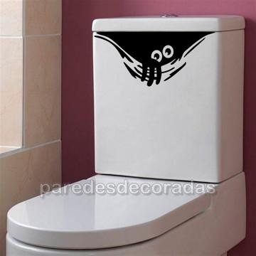 Adesivo Decorativo Monstrinho Banheiro