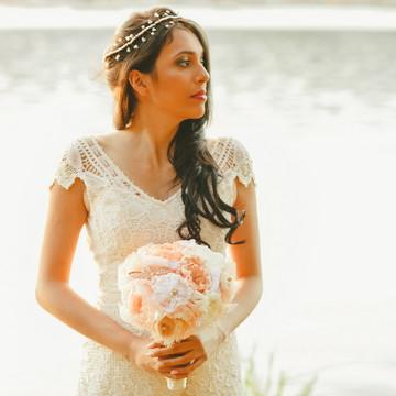 Vestido de noiva Boho chic Burano