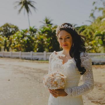 vestido de noiva Cartagena-Praia