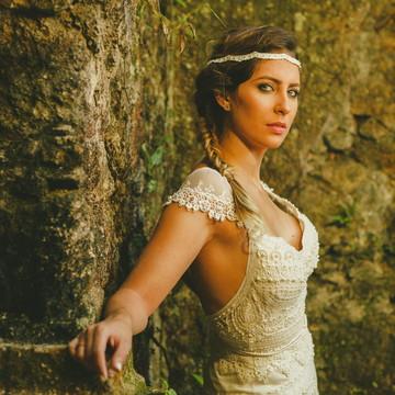 Vestido de noiva boho chic, Veneza