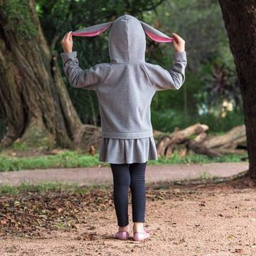 Casaco coelha (com felpa)