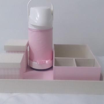 Kit higiene com 2 potes e caixa higiene