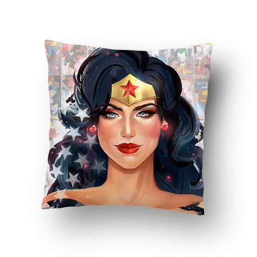 Capa de Almofada Herói Mulher Maravilha