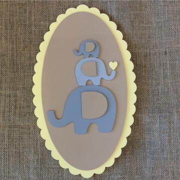 Quadro de Elefantes - Decoração Bebê