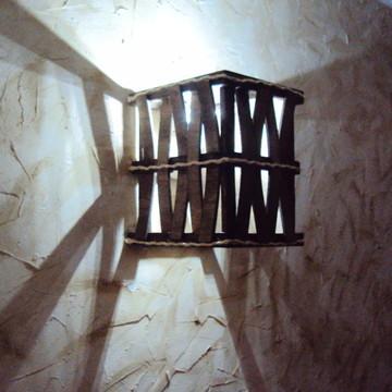 arandela luminária de parede rustico