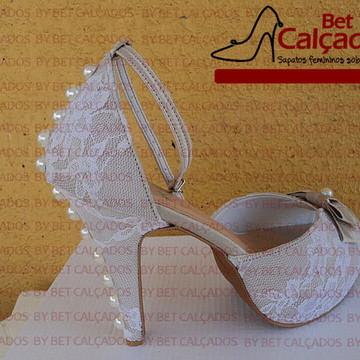 Sapato Noiva LUXO rendado
