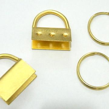 Ferragens para chaveiros ouro