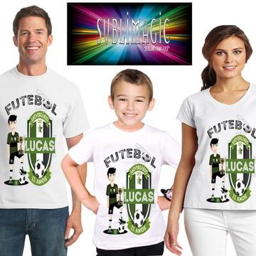 Kit 3 Camisetas Aniversário Futebol