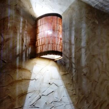 luminária de parede arandela rustica