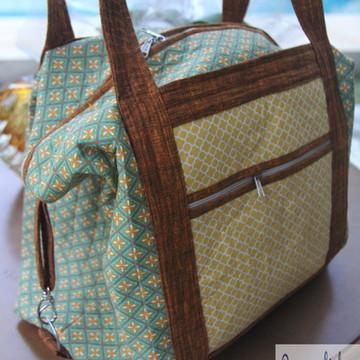 Bolsa maleta em Patchwork