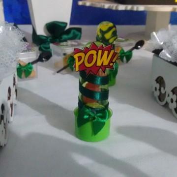 Tubete para festa infantil super heróis