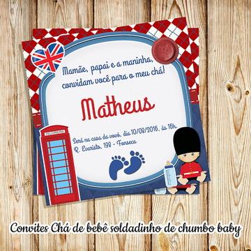 Convite soldadinho de chumbo bebê