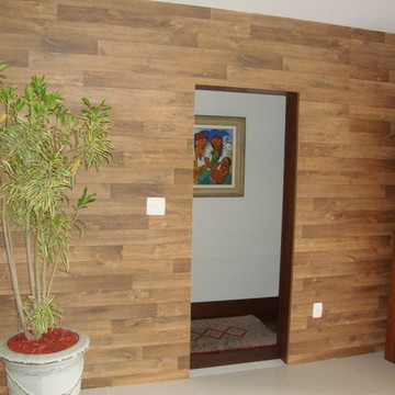 Adesivo Decorativo Madeira Sala 11M²