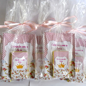 Lembrancinha mini Kit colorir Princesa
