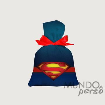 Saquinho Super Man 15cm x 20cm